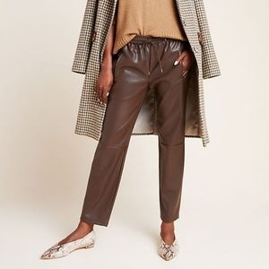 Anthropologie Sakara Faux Leather Pants L NWT
